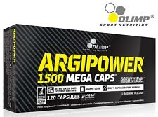Olimp Nutrition Argi Power 1500mg L- arginine HCL 120 Mega Caps. free shipping !