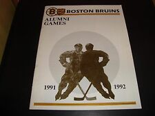 Boston Bruins 1991-92 Alumni Games Program / Magazine EX Condition Brad Park