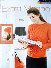 Knitting Pattern Schachenmayr Extra Merino Ladies Cable Sweater and Hat