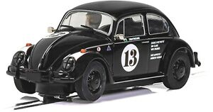 Scalextric C4147 VW Beetle Drew Pritchard Goodwood Black with Lights New Boxed