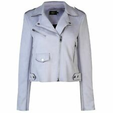 Only Womens Sherry Biker Jacket Leather PU Coat Top Zip Full