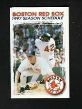 Boston Red Sox--Mo Vaughn--Tim Naehring--1997 Pocket Schedule--Thai Dish