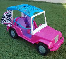Barbie Sisters' Safari Cruiser Pink Jeep Car / Seats 4 / Rear hatch opens