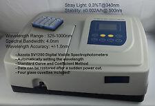 Azzota SV-1200, Digital 4nm Visible Spectrophotometer, Wavelength Range: 325-100