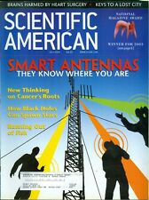 2003 Scientific American: Smart Antennas/Cancer/Black Holes/Running Out of Fish