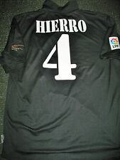 Authentic Hierro Real Madrid Centenary Jersey 2001 2002 Spain Camiseta Shirt XL