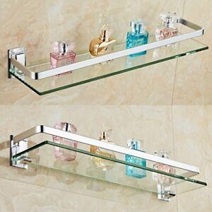 50cm / 60cm Badablage Glasregal Glasboden Glasablage Bad Wand Regal Duschregal