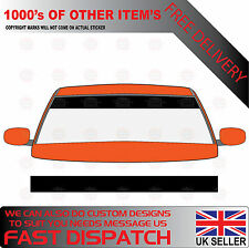 MATT BLACK WINDSCREEN SUNSTRIP 1800mm x 190mm VAN DECALS GRAPHICS STICKERS