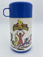 Mighty Morphin Power Rangers Lunch Box Thermos & Cup Vintage 1994 Aladdin Saban