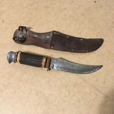"Old Vintage Buffalo Skinner 496 Edge Brand German Hunting Knife 9"" w/Sheath"