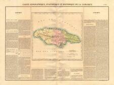 """""""Jamaïque' . la isla de Jamaica mostrando condados. Buchon 1825 Mapa Antiguo"""