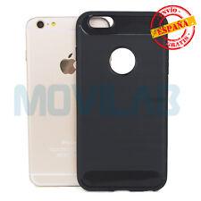Funda flexible antigolpes gel / TPU Apple Iphone 6 Plus / 6 S Plus carbono gris