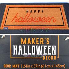 BIG HAPPY HALLOWEEN DOORMAT double door mat large size coir cute cool classy NEW
