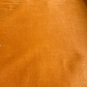 """Vintage Orange Velvet Fabric Upholstery Tangerine BTY 51"""" Wide Bolt"""