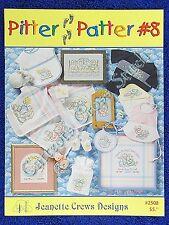 Cross Stitch Pattern Pitter Patter #8 Baby Bunny Designs Boy Girl Birth Cute