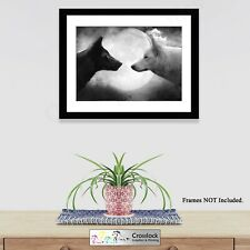 Wolf Wolves Pack Poster, Wildlife Nature Photo Picture Print ONLY Wall Art A4