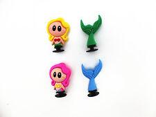 2pc 3D Shoe charms Mermaid For Jibbitz croc shoes & Bracelet Wristband Toys