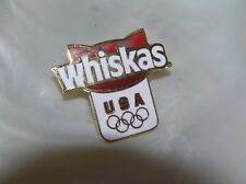 Red & White WHISKAS Kitty Cat USA Olympics Goldtone Enamel Hat Pin Tie Tac – 1 a