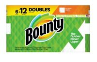 BOUNTY PAPER TOWELS-6 DOUBLE ROLLS=12 ROLLS (FULL SHEET)-SHIPS 2-4 DAY PRIORITY