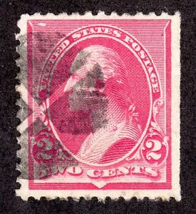 US # 220a (1890) 2c Used - FVF - With Fancy Canc EFO: Cap on 'LEFT' #2