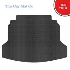 Honda CR-V 2012-Present Fully Tailored Black Rubber Boot Mat With Red Binding
