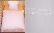 Bettwäsche 80x80cm Baby Kinder Weiß Baumwolle Kinderwagen Waffel Geschenkidee