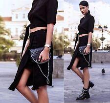 Zara Black Asymmetric Sarong Skirt Size S UK 8 EU 36 US 4