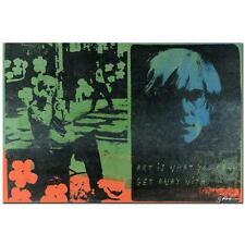 """ANDY WARHOL"" by Gail Rodgers - One-of-a-Kind Hand-Pulled Silkscreen - VERY COOL"