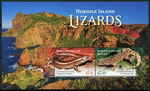 Norfolk Islands 2021 MNH Lizards Stamps Lord Howe Island Skinks & Geckos 2v M/S