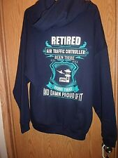 AIR Traffic Controller Retired graphic Pullover Hoodie 2XL