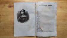 1835 Ritratto con Estratto: Guendalina Talbot Borghese (Londra)