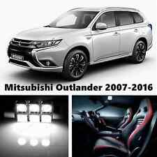 9pcs LED Xenon White Light Interior Package Kit for Mitsubishi Outlander