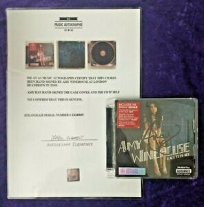 Amy Winehouse rare hand written double signed 'Back to Black' CD - 2009 London