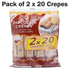 Tigreat French 40 Ready Chocolate Crepes Family Kids - Pack of 40x32g Snack Bags