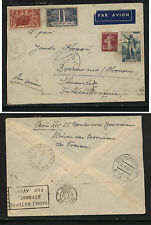 France  312,313  on  cover to  Czechoslovakia  1936              KL1126