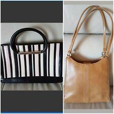 2 x handbags  bundle Fiorelli Black Pink patent & Next tan small leather look