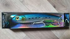 Jerk Big Game Marlin Tuna Wahoo LURE 125gr 180mm Hook 6/0 Blue