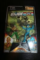 G.I. Joe 25th Anniversary DUKE COBRA COMMANDER COMIC PACK 2007 new moc GI mip