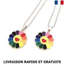 Licorne Collier Pendentif Violet Cristal Chaîne Fashion Jewelry fille cadeau g