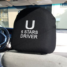 EMBROIDERY 5 STARS DRIVER UBER RIDESHARE FOAM BACKING CAR HEADREST COVER SIGN