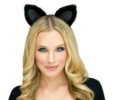 Black Cat Ears Costume Accessory