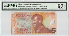 New Zealand 2005 P-185b PMG Superb Gem UNC 67 EPQ 5 Dollars *Polymer*