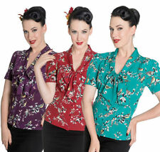 Polyester 50s Tops & Shirts for Women