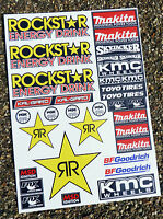 RC MINI CORR racing stickers decals 1/18 scale losi xray hpi 18th associated