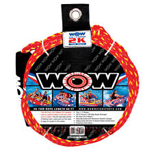 "new Wow 2K Tow Rope Towable Tube 60' Long Floating 3/8"" Heavy Duty Water Ski"