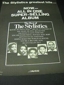 STYLISTICS Now all in one super selling album 1975 SOUL PROMO POSTER AD
