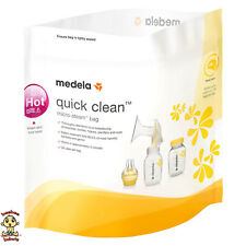 Medela Quick Clean Micro Steam Bags (1 Box includes 5 bags, 20 uses per bag)