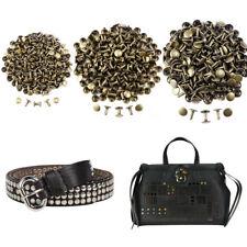 300x Double Cap Rivets Studs Rapid Snap Rivet Leather Craft Belt Pet Collar Deco