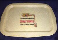 Vintage 1950's Early Times Whisky Fiberglass Serving Tray Rare Item!