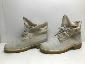 VTG WOMENS TIMBERLAND WORK/CASUAL WHITE OFF BOOTS SIZE 9 M